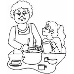 Baking Coloring Page Activities For Kids
