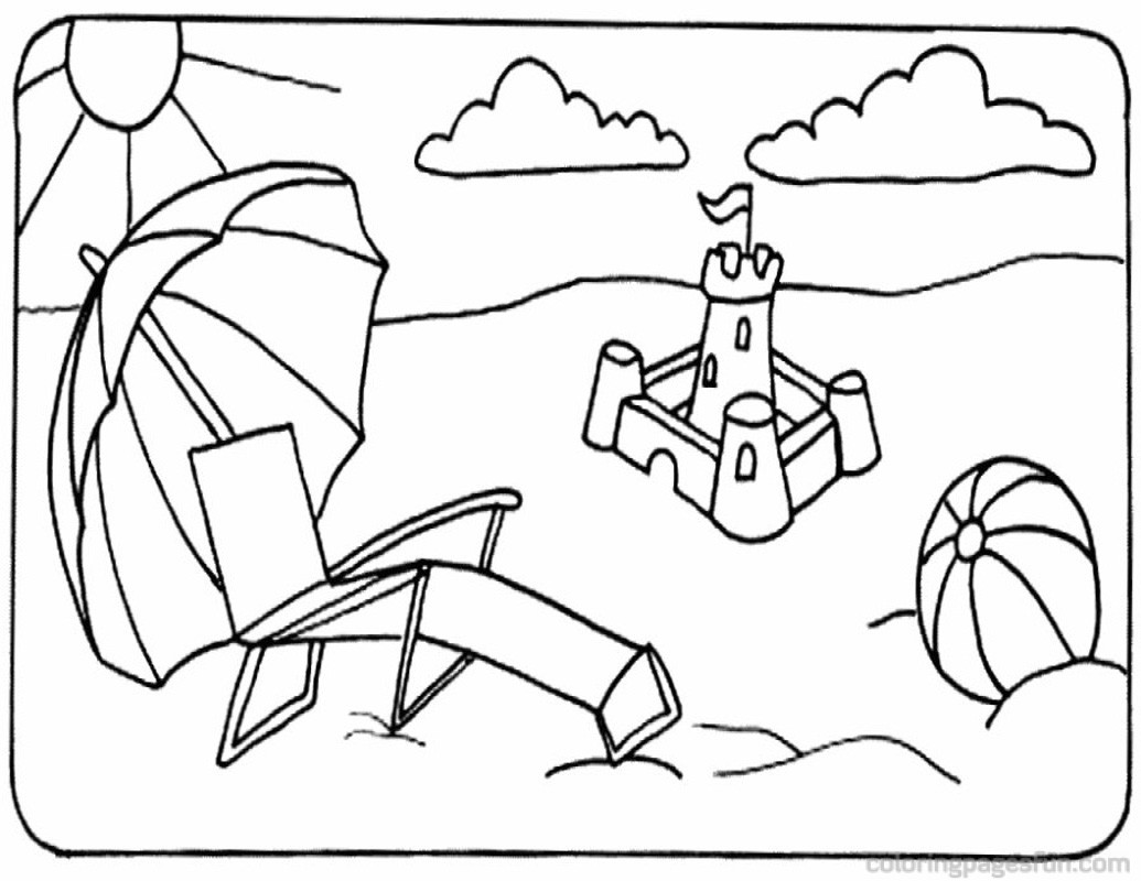 coloring pages and beach - photo#6