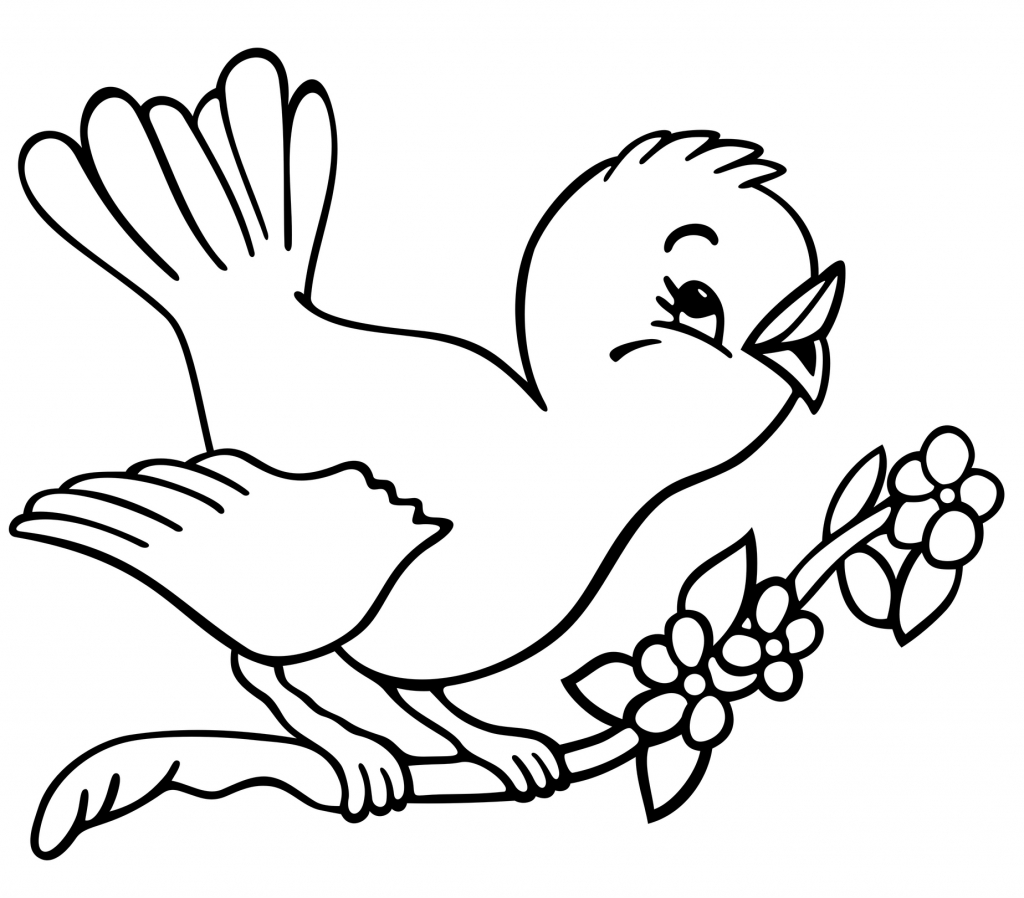 bird child coloring page