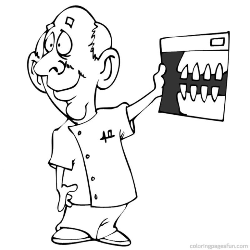 Dentist Coloring Pages Free Printable Color On Pages Coloring