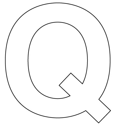 letter q free pictures to color