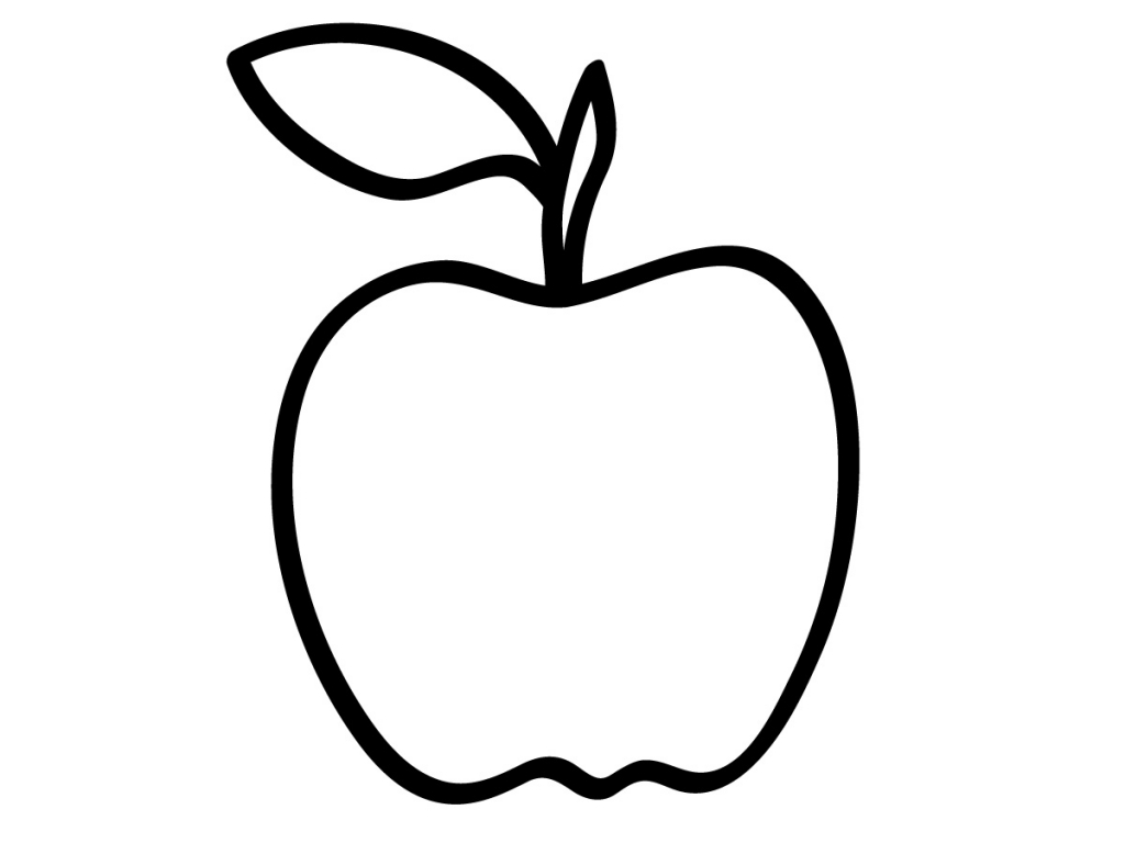 Apples preschool coloring pages color on pages coloring for Apple coloring pages
