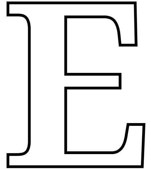 letter e coloring pages for kids free color on
