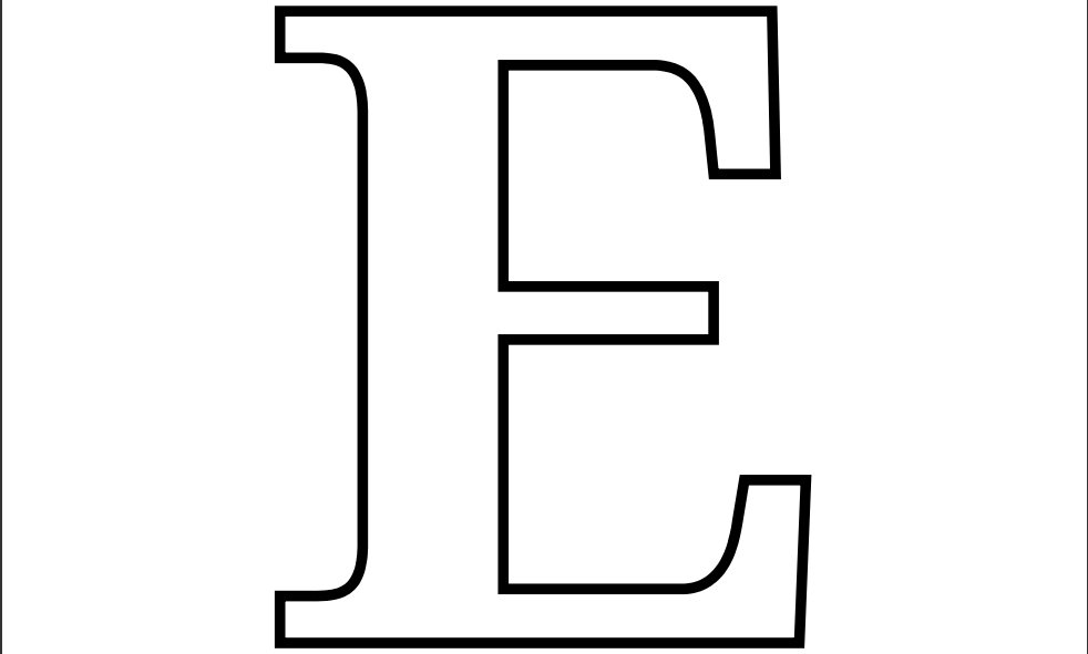 Letter E Coloring Pages For Kids Free