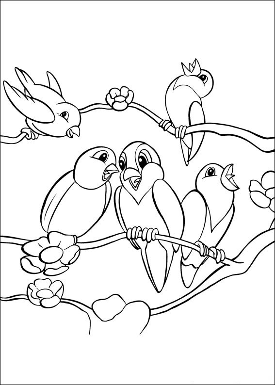 Birds Color On Pages Coloring Pages For Kids