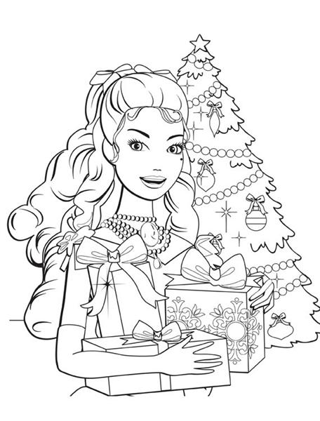Barbie christmas coloring pages color on pages coloring for Christmas carol coloring pages