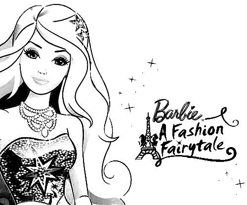 Барби мода раскраска