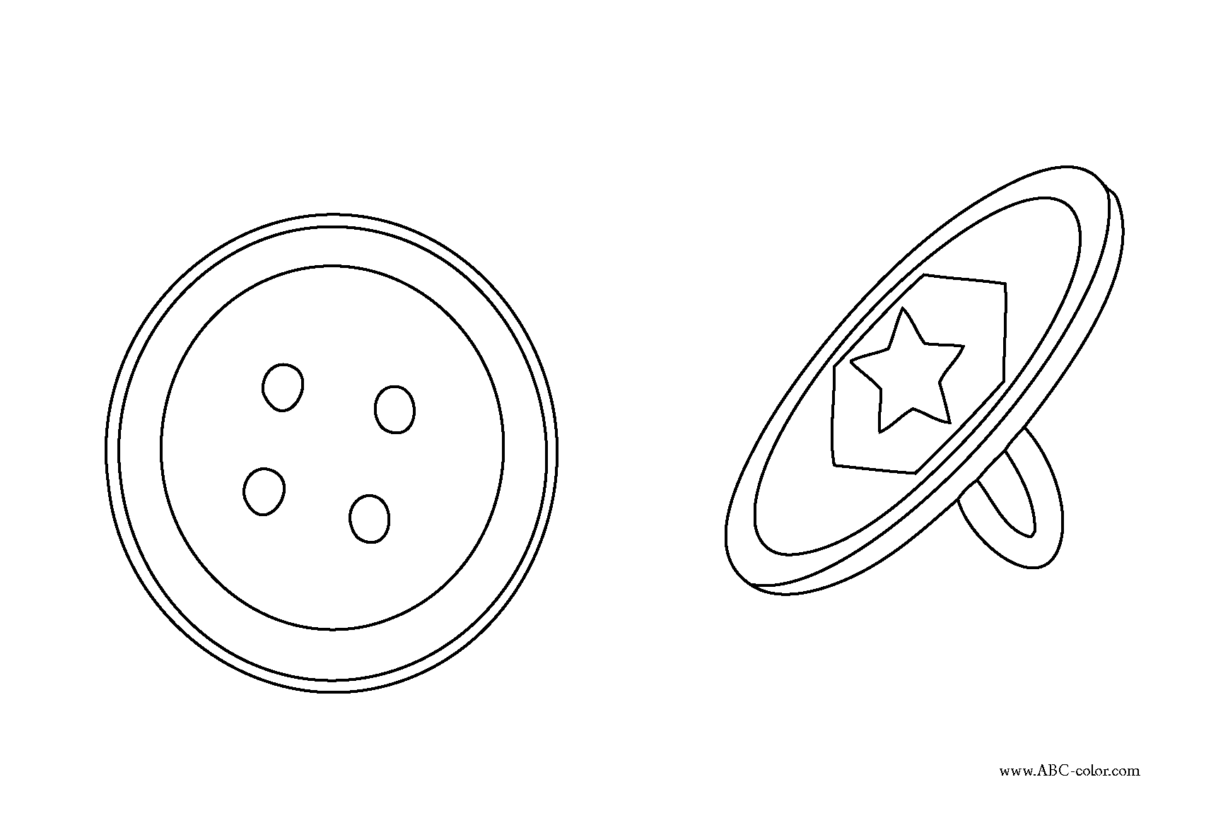 Buttons Coloring Pages To Print Color On Pages Coloring