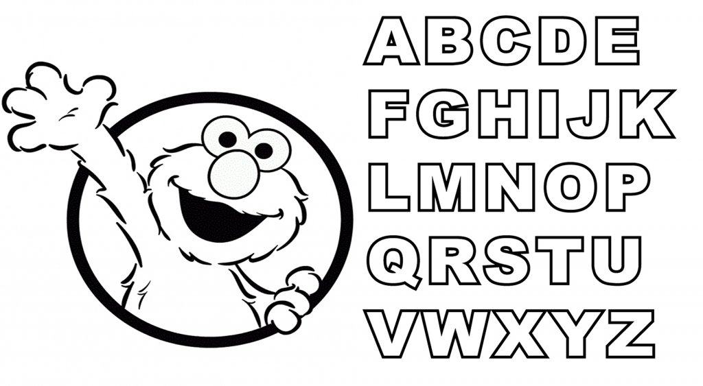 Elmo Alphabet Coloring Pages Color On Pages Coloring