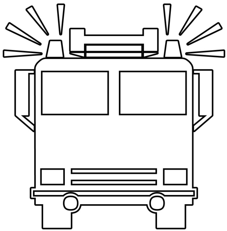 Fire Truck Coloring Pages Color On Pages Coloring Pages