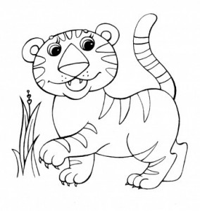 baby jungle animal coloring children coloring pages printable pictures