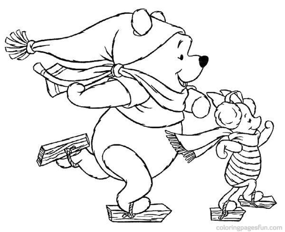 Disney christmas coloring pages color on pages coloring for Disney christmas printable coloring pages