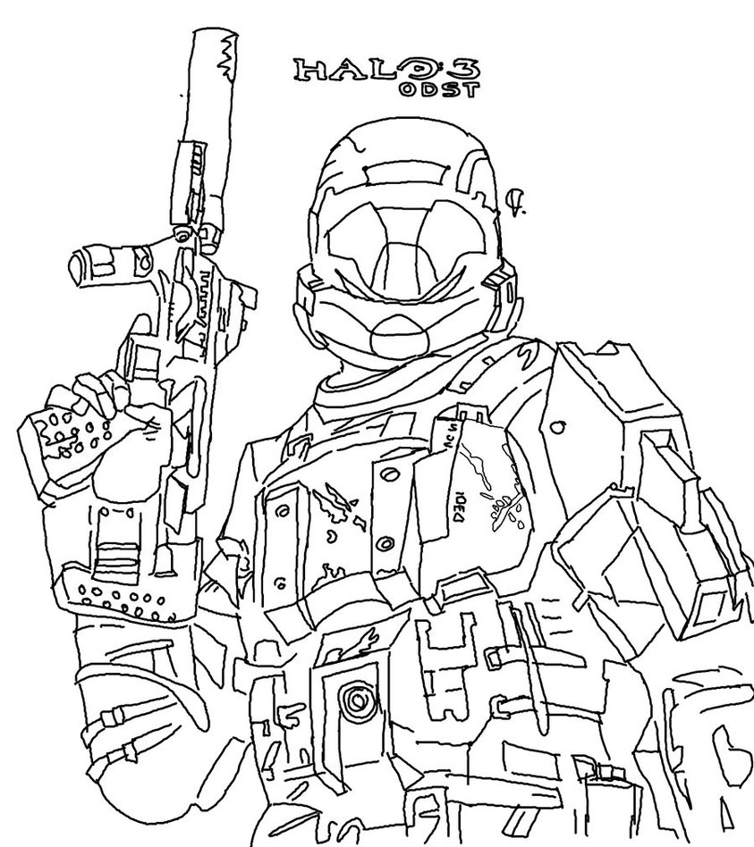 halo 3 coloring pages to print – Color On Pages: Coloring Pages for Kids