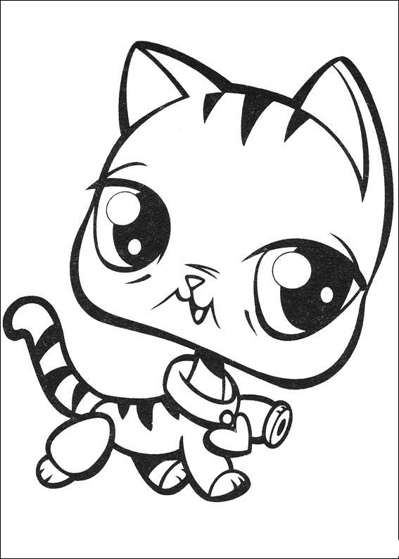 My little pet shop coloring pages color on pages for Little pet shop coloring page