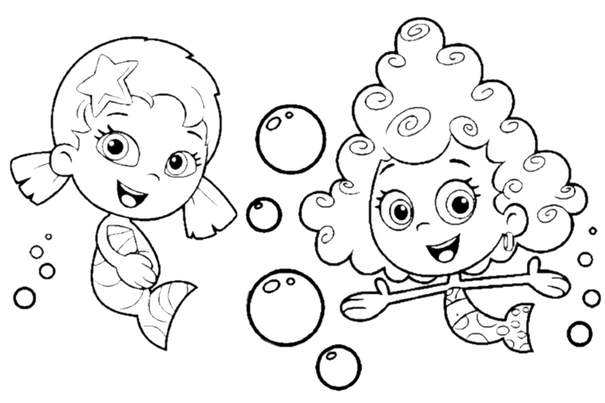 bubble guppies coloring pages to print color on pages coloring pages for kids