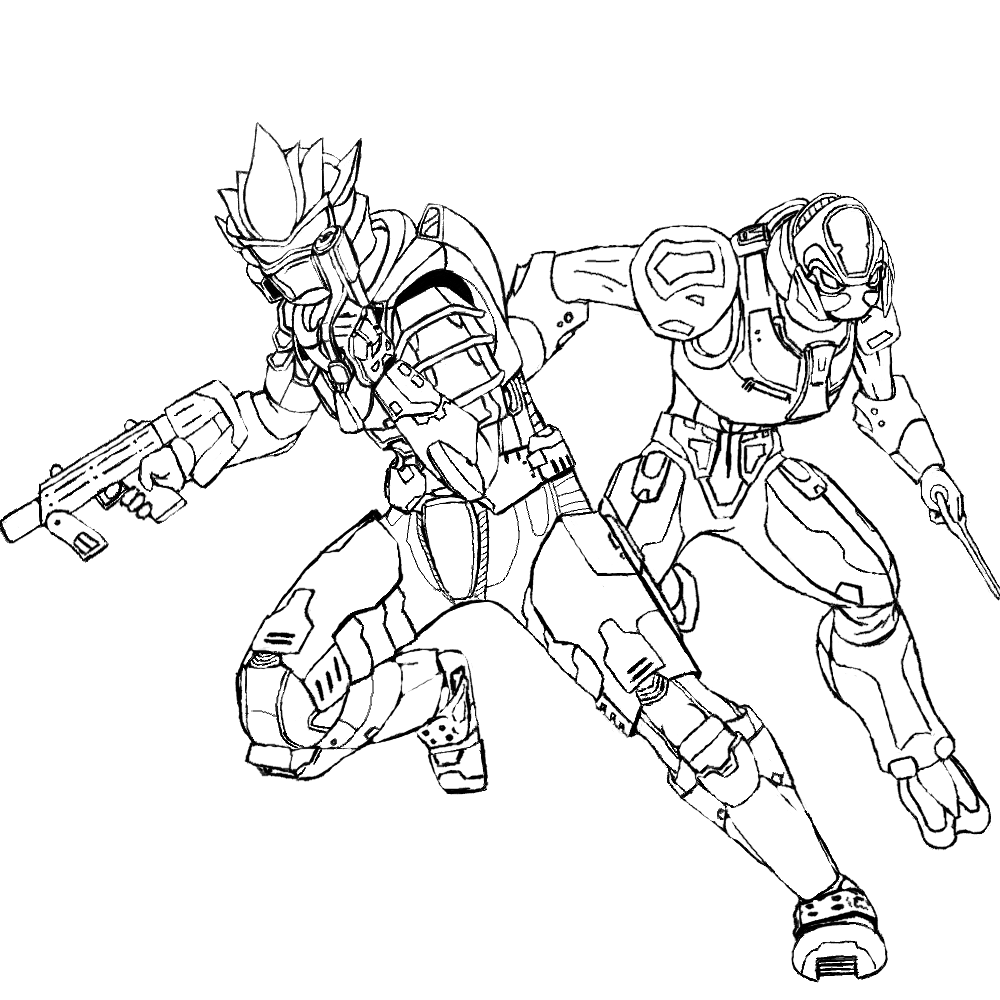 coloring pages halo 3 - photo #50
