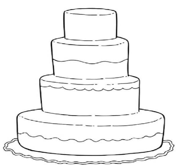 cake coloring pages to print - wedding cake coloring pages color on pages coloring