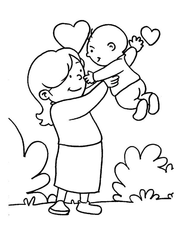 День матери раскраска для детей