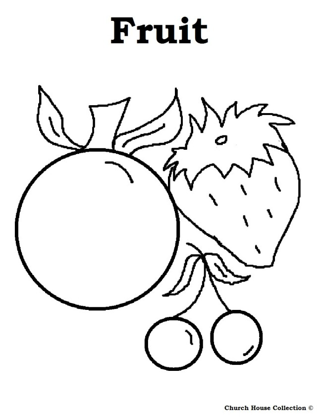 Healthy Foods Coloring Pages Color On Pages Coloring Pages For Kids