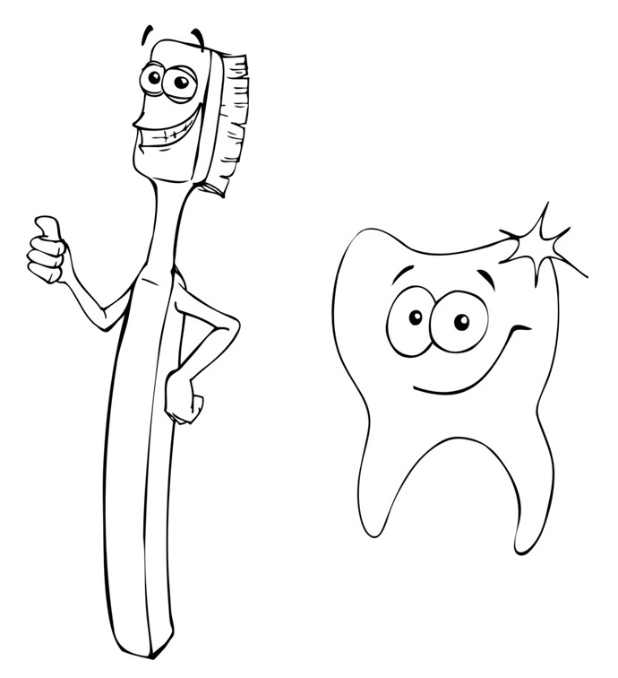 free dental coloring pages for kids - Color On Pages ...